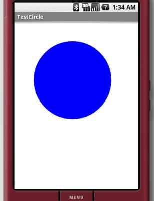 ここで作るアプリケーション--円を描画するだけ